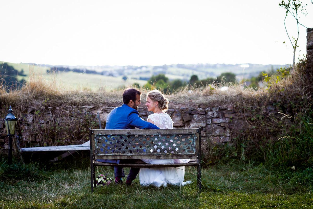 Romantische Hochzeitsfotos mit Aussicht